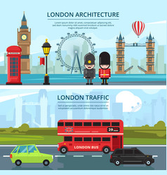 urban landscape of london banners set vector image
