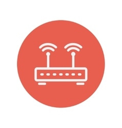 Wireless router thin line icon vector image