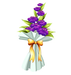 A boquet of fresh violet flowers vector