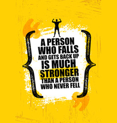 a person who falls and gets back up is much vector image