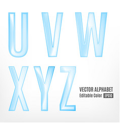 Abstract letters of the alphabet vector