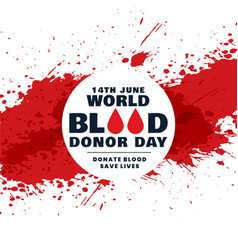 Abstract world blood donor day concept background vector