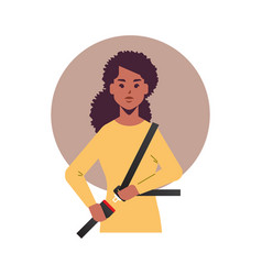 African american woman driver or passenger vector