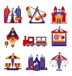 Amusement park flat design vector