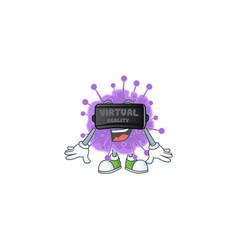 An icon coronavirus influenza using virtual realit vector