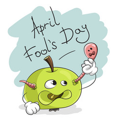 april fools day happy fun card vector image