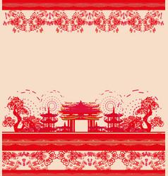 Asian theme card vector