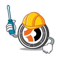 Automotive bitcoin dark mascot cartoon vector