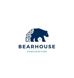 Bear house logo icon vector