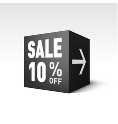 black cube banner template for holiday sale event vector image