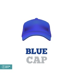 Blue baseball cap template Front view vector
