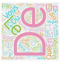 Bons Plans pour Mariage Express text background vector image
