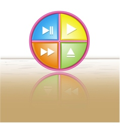 Button icon reflection vector