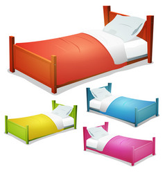 Cartoon bed set vector