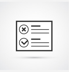 checklist flat line trendy black icon eps10 vector image