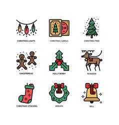 christmas icon set 2 vector image