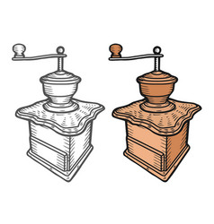 coffee mill hand drawn sketch style vector image