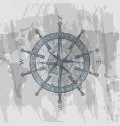 compass windrose on background of world map vector image