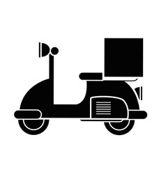 contour delivery motorcycle transportation service vector image