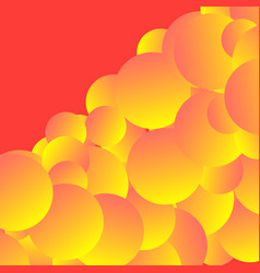 Creative conceptual design with gradient spheres vector
