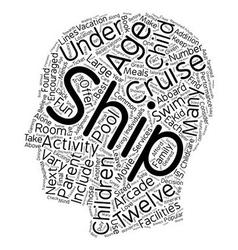 Cruise ship activities for children under twelve 1 vector