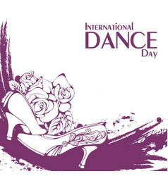 dance day ballroom standard shoes vector image