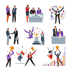deal and contract signing business professional vector image