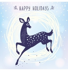 Deer cute stylized vector image