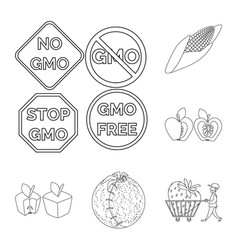 design of genetic and science symbol vector image