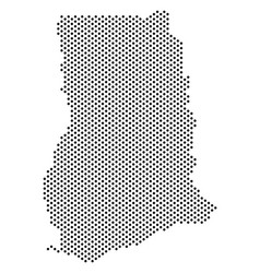 Dotted ghana map vector