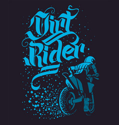 Drirt rider motocross freestyle design for apparel vector