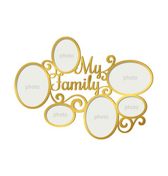 Family photo frame vector