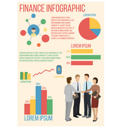 finance infographics poster vector image