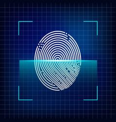 finger print scanning system vector image