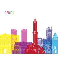 Genoa skyline pop vector image