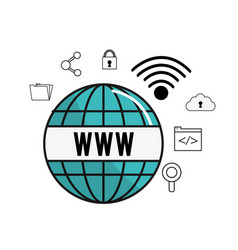 global wifi internet connect service vector image