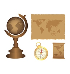 Globe and geography elements vector