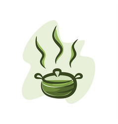 greentea in hot pot vector image