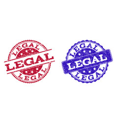 Grunge scratched legal seal stamps vector