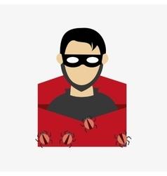 Hacker in virus envelope system security design vector