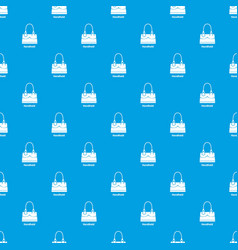 Handheld bag pattern seamless blue vector