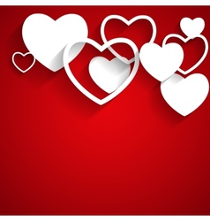 Happy Valentines Day Card with Heart Flat vector