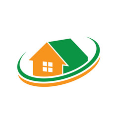 home wave business logo vector image