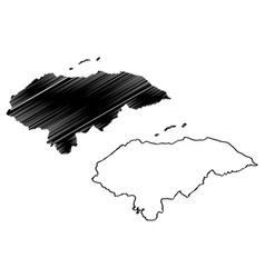 honduras map vector image