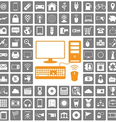 icons web set vector image