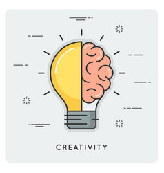 idea and creativity thin line concept vector image