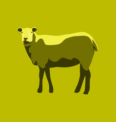 In flat style sheep vector