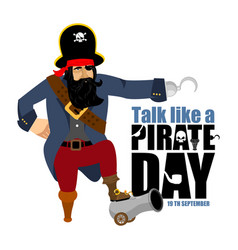 International talk like a pirate day pirate hook vector
