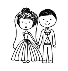 Just married couple icon vector