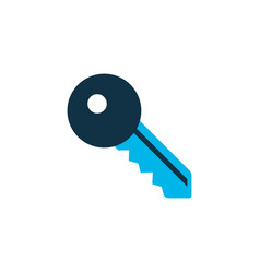 key icon colored symbol premium quality isolated vector image
